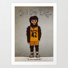 bad hair day no:2 / Teen Wolf Art Print