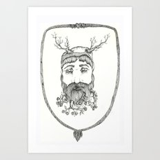Forest man Art Print