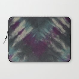 Tie Dye Purple Black Turquoise Laptop Sleeve