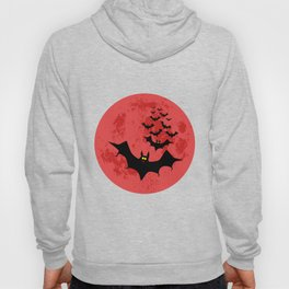 Vampire Bats Against The Red Moon Hoody