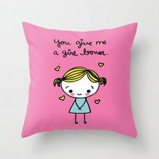 Girl Boner Throw Pillow