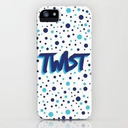 Twist N.3Bis Modele Rond iPhone Case