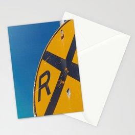 Railroad Sign-Film Camera Stationery Cards