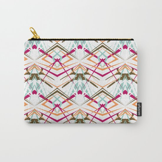 Abstract geometric colorful pattern on white background . Carry-All Pouch