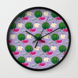 Traditional Japanese summer pattern_E Wall Clock