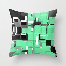 Digital Squares Throw Pillow