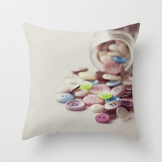 Need Buttons? Throw Pillow