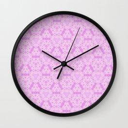 Delicate Pink Lavender Pattern Design Wall Clock