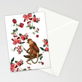 Monkey World: Nosy - White Stationery Cards