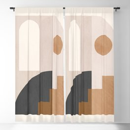 Geometric Abstract 83 Blackout Curtain