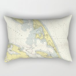 Vintage Map of The Outer Banks (1942) Rectangular Pillow