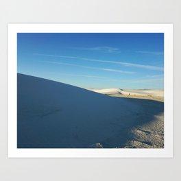 Shadows of White Sands Art Print