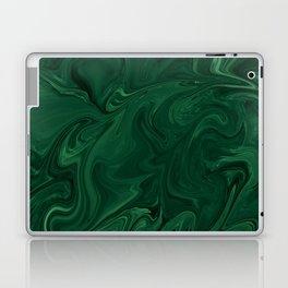Modern Cotemporary Emerald Green Abstract Laptop & iPad Skin