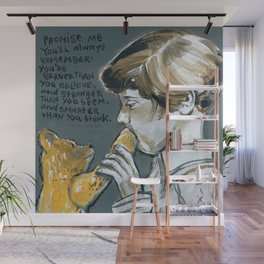 Christopher Robin and Winnie the Poo Wall Mural