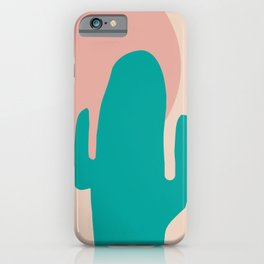 high desert exhale   pink and green iPhone Case