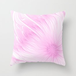 Pink Spring | Flower, abstract digital painting, cute floral pattern, pretty pastel flowers Throw Pillow