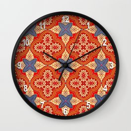 Moroccan Motet Pattern Wall Clock