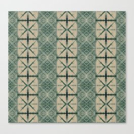 Green Shibori Canvas Print