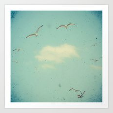 Circle of Birds Art Print