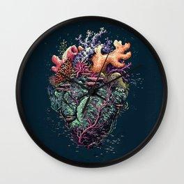 Poseidon's Heart Wall Clock