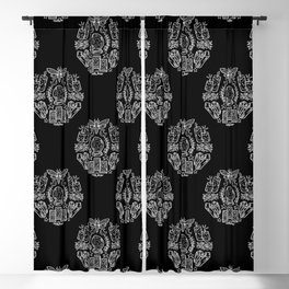 Witch Coven: Tarot Cards and Crystal Balls (White) Blackout Curtain
