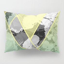 Contemporary Sunny Geometric Floral Pattern Pillow Sham