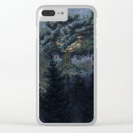 The Island of Dolls Tree House Clear iPhone Case