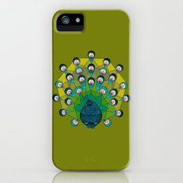 a heptagonal peacock iPhone Case