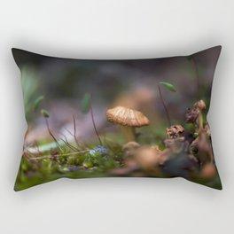 The Tiniest of Mushrooms Rectangular Pillow