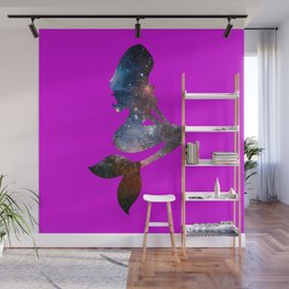Galaxy Mermaid 3 (Fuscia) Wall Mural