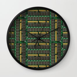 Computer memory modules background Wall Clock