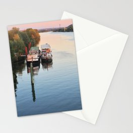 Boats on th Seine Stationery Cards
