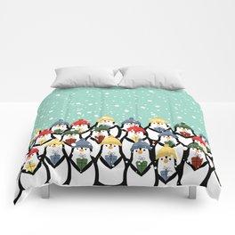 Christmas penguins Comforters