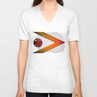 china V-neck T-shirts featuring China by ilustrarte