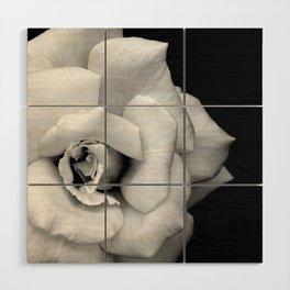 Rose Monochrome Wood Wall Art