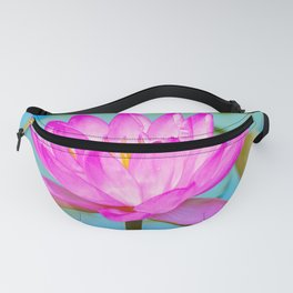 Pink Water Lily Flower - Nature Photography Fanny Pack