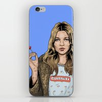 kate moss iPhone & iPod Skins featuring Kate Moss  by guissëpi