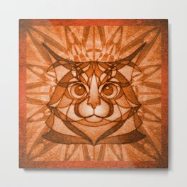 The Rusty Maine Coon Metal Print