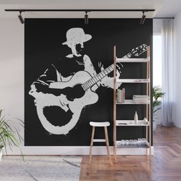 Musician playing Wall Mural