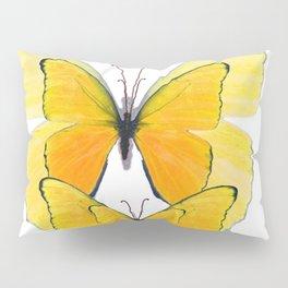 MODERN ART YELLOW BUTTERFLIES ABSTRACT Pillow Sham