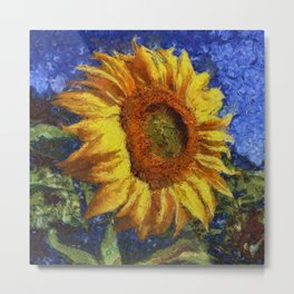 Sunflower In Van Gogh Style Metal Print
