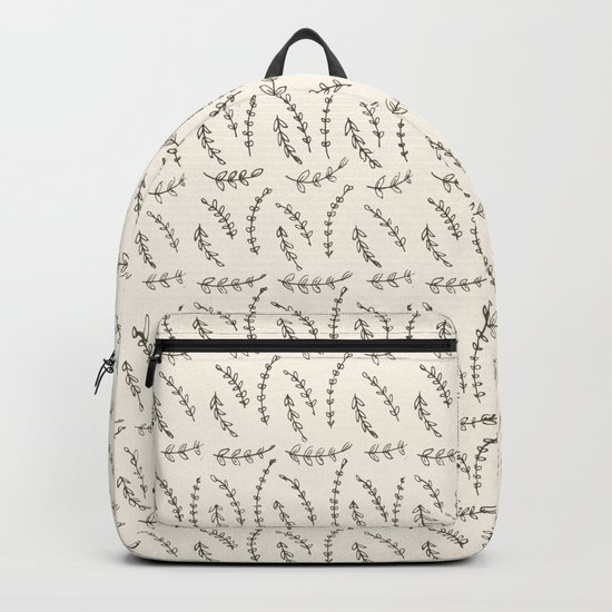 Delicate Twigs Pattern Backpack
