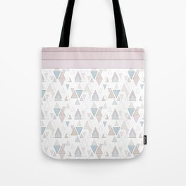 Geometric pattern , pastel triangles Tote Bag