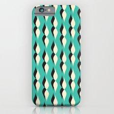 turquoise petal lines  Slim Case iPhone 6s
