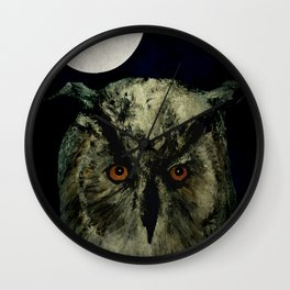 The Night Owl Part 2 Wall Clock