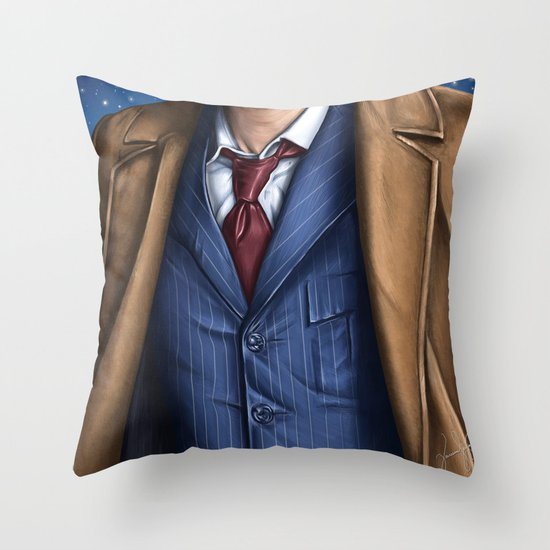 The Tenth Doctor Throw Pillow