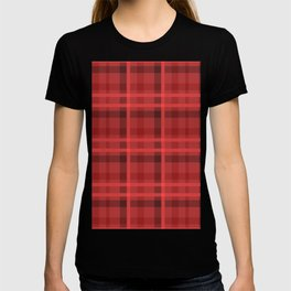 Red And Black Flannel Pattern Design T-shirt