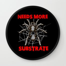 Tarantula Spider In The Cobweb Gift Wall Clock