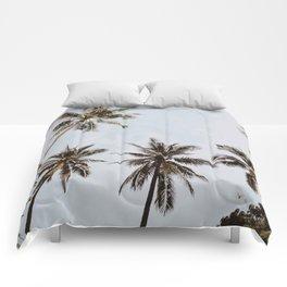 palm trees xiv / chiang mai, thailand Comforters