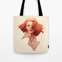 Art Deco Redhead Tote Bag